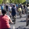 Wielu rowerzystów na Prusa i Wojska Polskiego