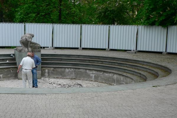 Uruchomienie fontanny po remoncie