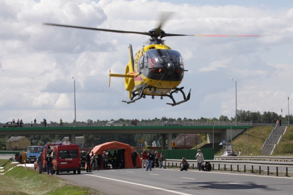 Ćwiczenia służb ratunkowych z widownią
