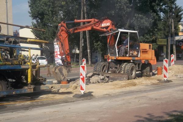 Ulica Powstańców rozkopana do 11 sierpnia
