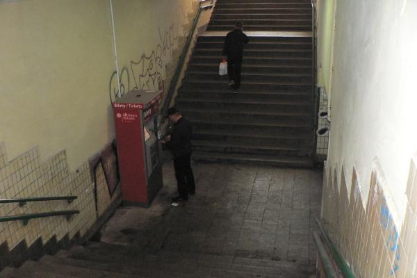 Przejście podziemne w Pruszkowie zamknięte